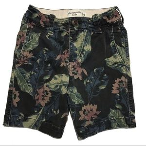 [3/$20]Abercrombie Kids Black Floral Chino Shorts